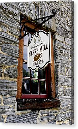 Herrs Mill - Lancaster Canvas Print by Paul W Faust -  Impressions of Light