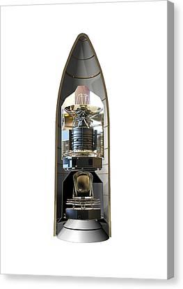 Herschel & Planck Launch Configuration Canvas Print by Science Source