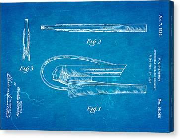 Hershey Automobile Radiator Ornament Patent Art 1936 Blueprint Canvas Print by Ian Monk