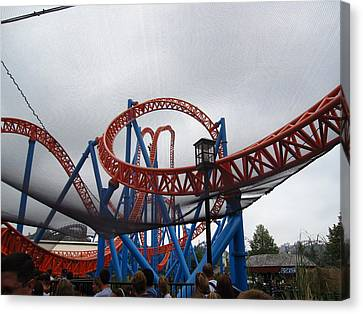 Pa Canvas Print - Hershey Park - Fahrenheit Roller Coaster - 12123 by DC Photographer
