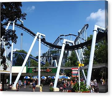 Hershey Park - Great Bear Roller Coaster - 121210 Canvas Print by DC Photographer
