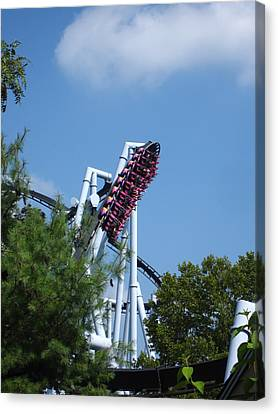 Hershey Park - Great Bear Roller Coaster - 121212 Canvas Print by DC Photographer