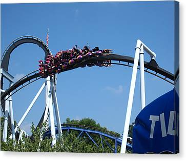 Hershey Park - Great Bear Roller Coaster - 121215 Canvas Print by DC Photographer