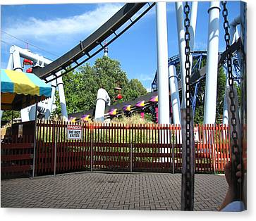Hershey Park - Great Bear Roller Coaster - 121217 Canvas Print by DC Photographer