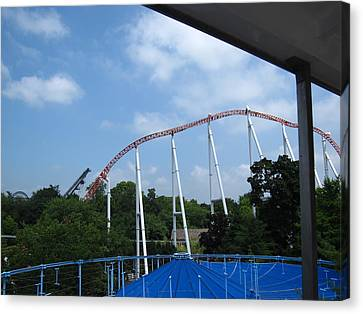 Hershey Park - Great Bear Roller Coaster - 12123 Canvas Print by DC Photographer