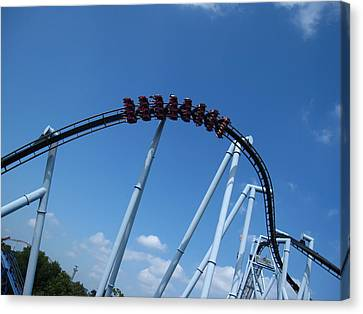 Hershey Park - Great Bear Roller Coaster - 12129 Canvas Print by DC Photographer