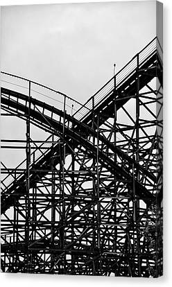 Hershey Park Rollercoaster Canvas Print by Bill Cannon