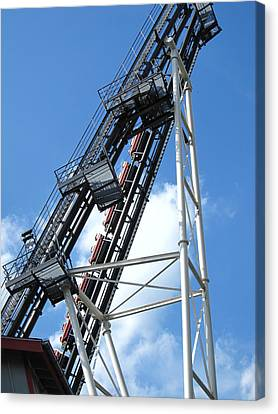 Hershey Park - Sidewinder Roller Coaster - 12121 Canvas Print by DC Photographer