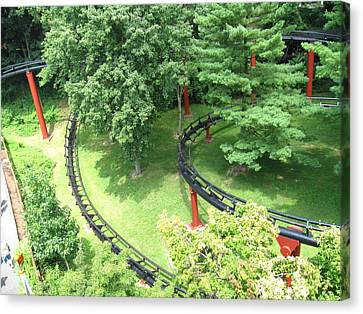 Hershey Park - Trailblazer Roller Coaster - 12121 Canvas Print