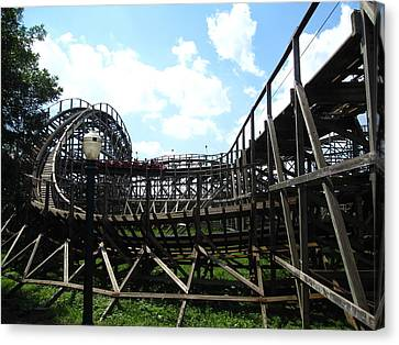 Hershey Park - Wildcat Roller Coaster - 12123 Canvas Print by DC Photographer