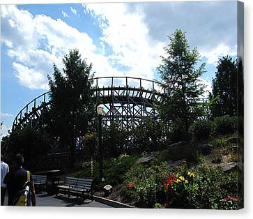 Hershey Park - Wildcat Roller Coaster - 12124 Canvas Print by DC Photographer