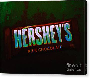 Hershey's Chocolate Bar Canvas Print by Wingsdomain Art and Photography