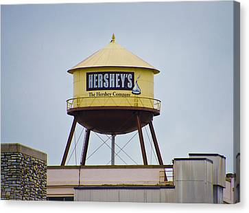 Hershey's Water Tower Canvas Print by Bill Cannon