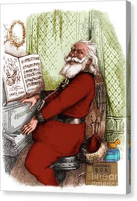 Hes A Jolly Good Fellow Santa Claus Canvas Print