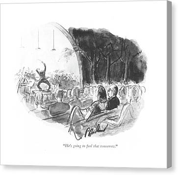 Orchestra Canvas Print - He's Going To Feel That Tomorrow by Perry Barlow