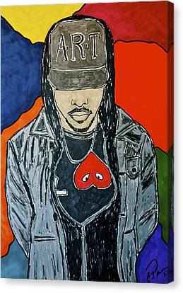 Canvas Print featuring the drawing He's Got Swag by Chrissy  Pena
