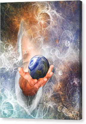 He's Got The Whole World In His Hand Canvas Print