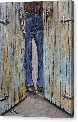 Blue Jeans Looking Good Canvas Print