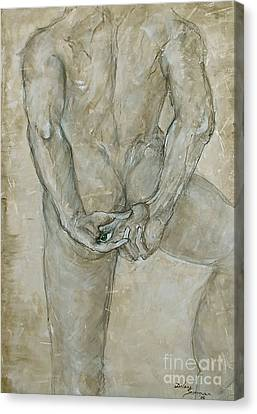 Canvas Print featuring the painting He's The One  by Delona Seserman