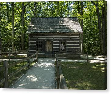 Hesler Log House #2 Canvas Print by Paul Cannon