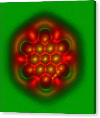 Hexabenzocoronene Molecule Canvas Print by Ibm Research