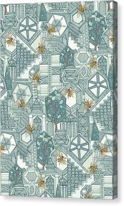 Hexagon City Canvas Print