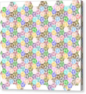 The Nature Center Canvas Print - Hexagonal Cubes by Cam Macfarlane