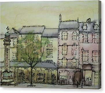 Hexham Market Place Northumberland  England Canvas Print