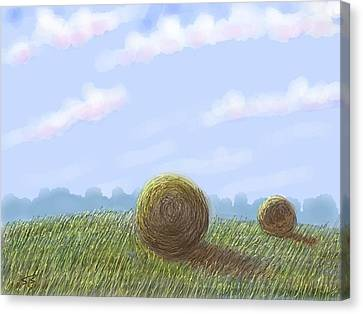 Hey I See Hay Canvas Print by Stacy C Bottoms