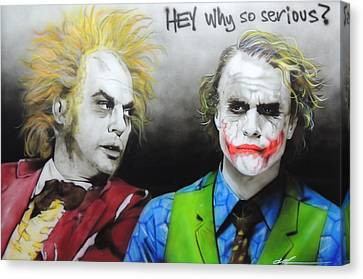 Health Ledger - ' Hey Why So Serious? ' Canvas Print by Christian Chapman Art