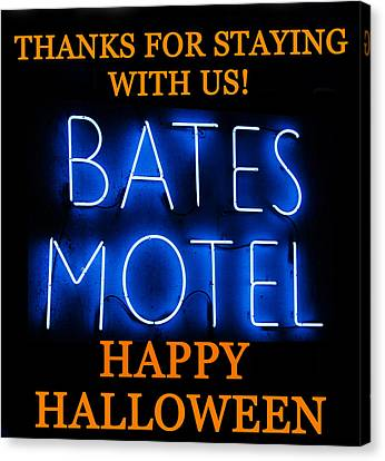 1960 Movies Canvas Print - Hh Bates Motel by David Lee Thompson