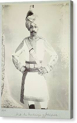 Hh The Maharaja Of Jodhpore Canvas Print by British Library