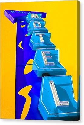 Hi-lander Motel Canvas Print by Gail Lawnicki