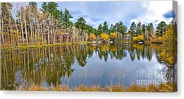 Fort Collins Canvas Print - Hiawatha Lake Panorama by Baywest Imaging
