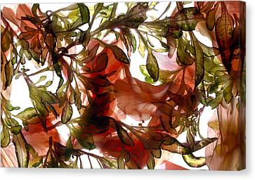Hibiscus Coleus Array Canvas Print