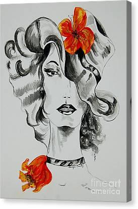 Hibiscus Fashion Canvas Print