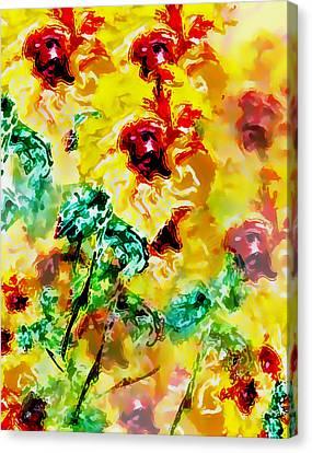 Hibiscus Impressionist Canvas Print