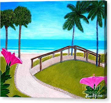 Hibiscus In Paradise Canvas Print by Oksana Semenchenko