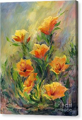 Hibiscus Canvas Print by Madeleine Holzberg