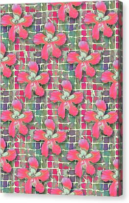 Hibiscus Pink Water Canvas Print