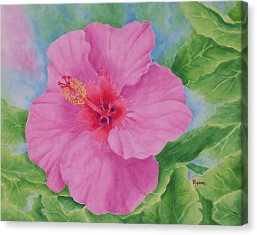 Hibiscus Canvas Print by Rhonda Leonard