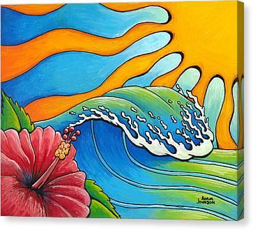 Hibiscus Wave Canvas Print