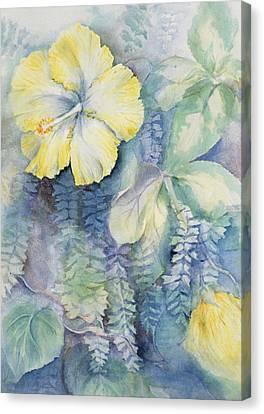 Hibiscus, Yellow Canvas Print