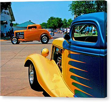 Canvas Print featuring the photograph Hiboy Over Fender Custom by Christopher McKenzie