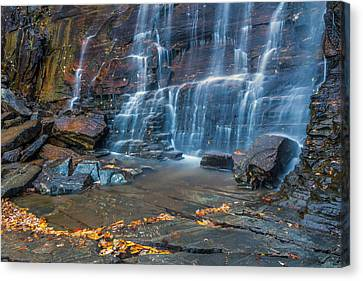 Hickory Nut Falls In Chimney Rock State Park Canvas Print
