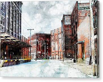 Hickory - Urban Building Row Canvas Print by Liane Wright