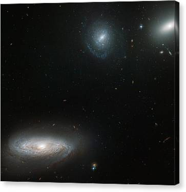 Hickson Compact Group Canvas Print by Celestial Images