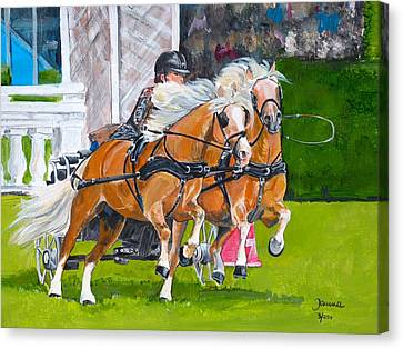 Hickstead  Canvas Print by Janina  Suuronen
