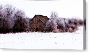 Earth Tones Canvas Print - Hidden Barn by Julie Hamilton