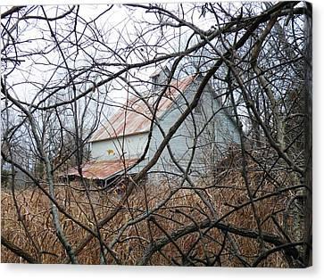 Hidden Barn Canvas Print by The GYPSY And DEBBIE
